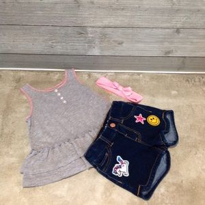 Girls 2pc outfit and headband
